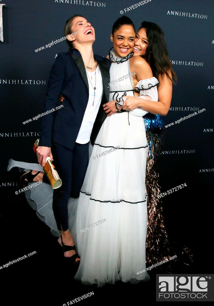 Stock Photo: Los Angeles premiere of 'Annihilation' at the Regency Village Theatre - Arrivals Featuring: Tuva Novotny, Tessa Thompson, Gina Rodriguez Where: Westwood.