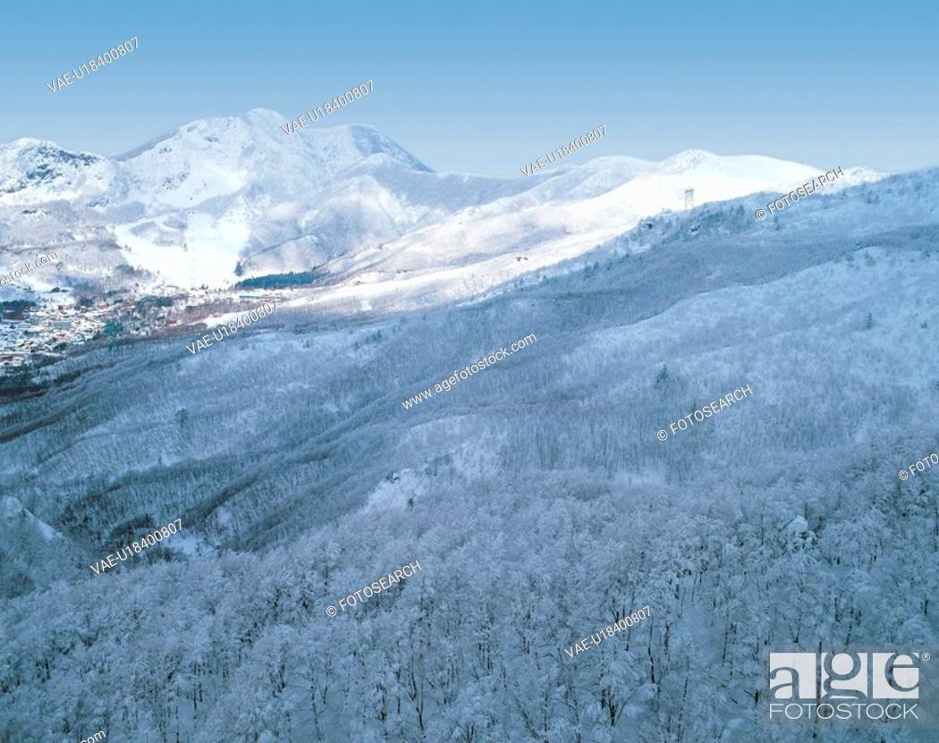 Stock Photo: winter, landscape, snowscape, snow, mountain, scenery, nature.