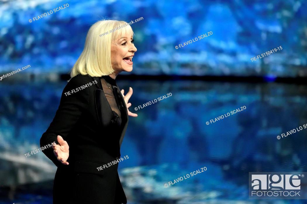 Imagen: Raffaella Carra' during the tv show Che tempo che fa, Milan, ITALY-14-04-2019.
