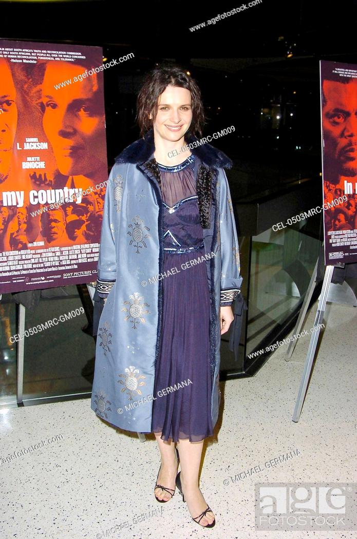 Juliette Binoche At Arrivals For In My Country Premiere Pacific Design Center Silver Screen Theater Stock Photo Picture And Rights Managed Image Pic Cel 0503mrc Gm009 Agefotostock