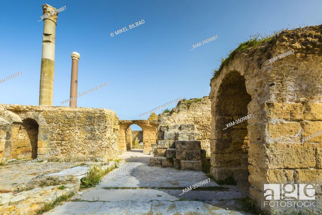 Stock Photo: Roman ruins. Baths of Antoninus. Carthage. Tunisia, Africa.
