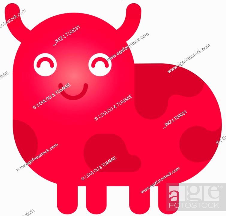 Stock Photo: A cute Taurus bull character.