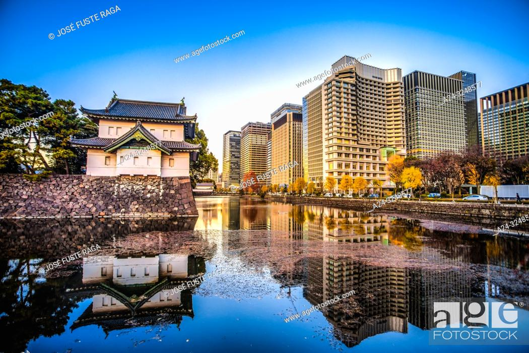 Imagen: Japan, Tokyo City, The Imperial Palace, Otemachi District Skyline.
