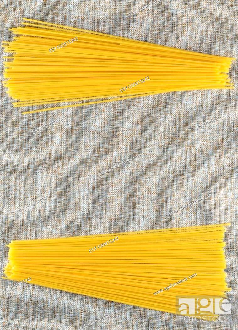 Stock Photo: varius types italian pasta.