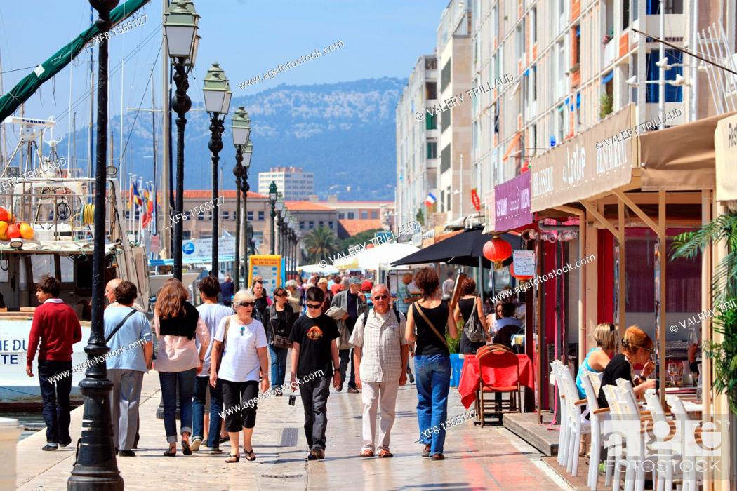 Stock Photo: The harbor of Toulon, Provence, Var, 83, PACA, France, Europe.