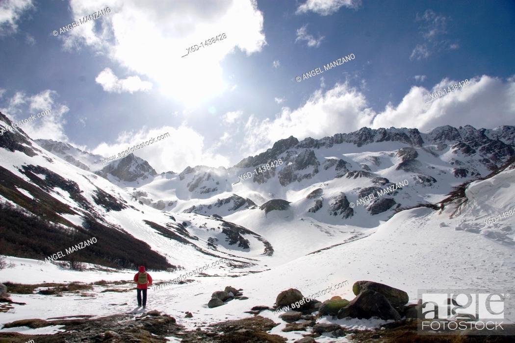 Stock Photo: Martial glacier, Ushuaia, Tierra del Fuego island, Argentina.