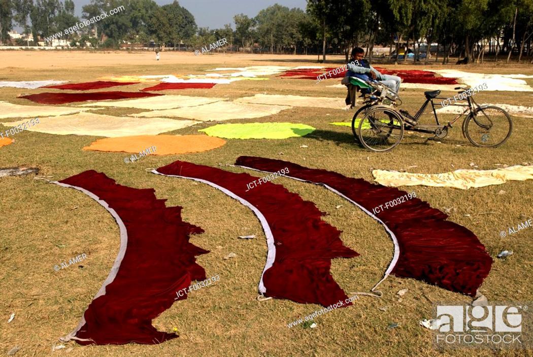 Stock Photo: India, Haryana, laundry worker.