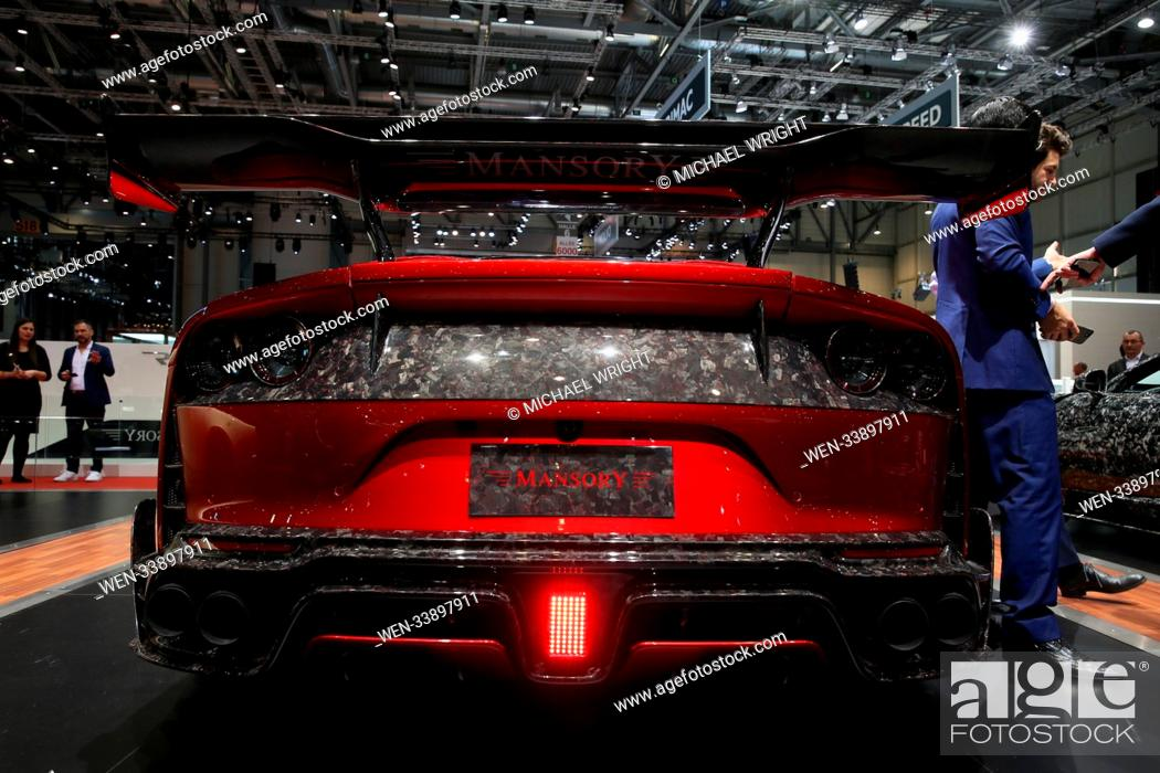 The Cars Of The Geneva International Motor Show Featuring Mansory Stallone Ferrari 812 Superfast Stock Photo Picture And Rights Managed Image Pic Wen 33897911 Agefotostock