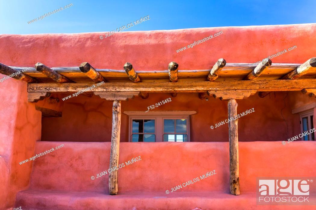 Stock Photo: Painted Desert Inn National Historic Landmark, Petrified Forest National Park, Arizona, USA, America.