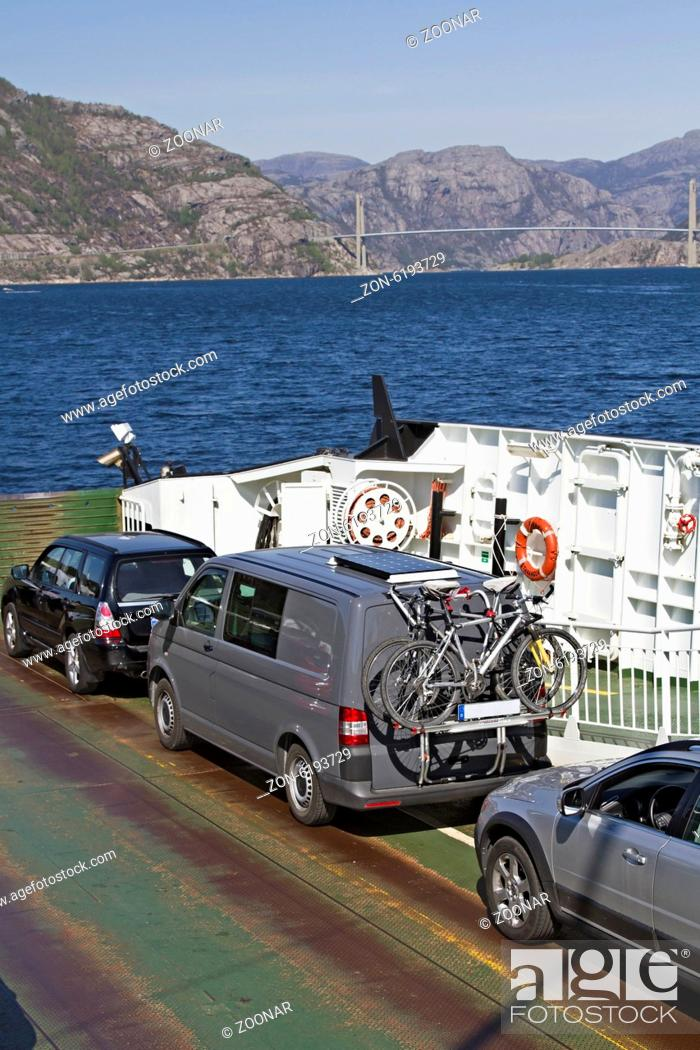 Stock Photo: ferry with cars.