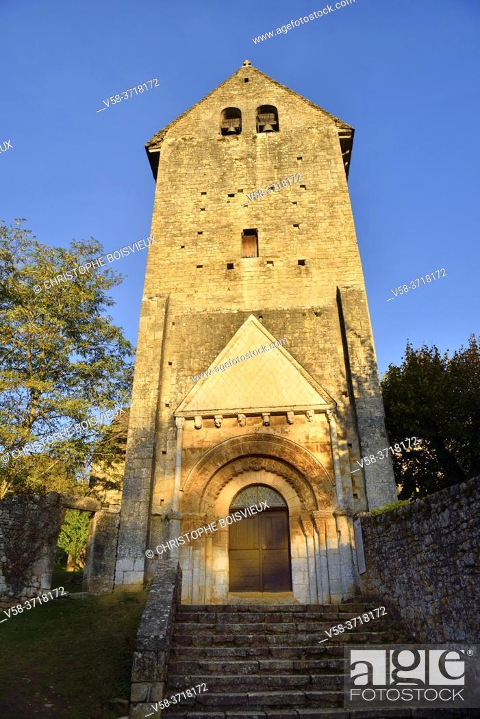 Stock Photo: France, Dordogne, Saint-Martin de Besse church (11-12th C).