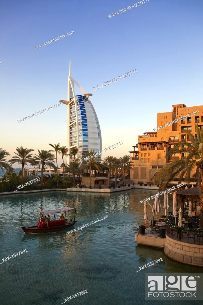 Stock Photo: Al Arab hotel in Jumeirah, Dubai, United Arab Emirates.