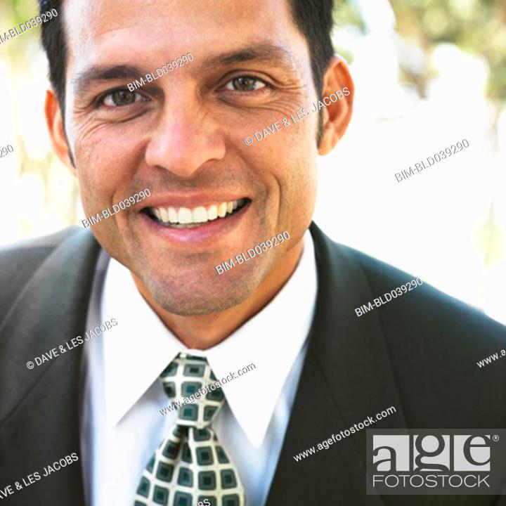 Stock Photo: Close up of Hispanic businessman.