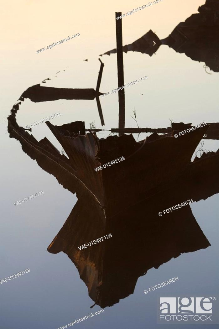 Stock Photo: Boat, Damaged, Day, Nautical Vessel.