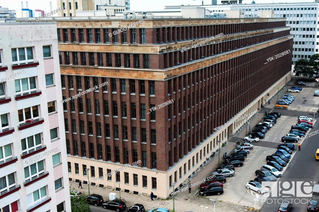 Stock Photo: Keibelstrasse, East-Berlin, Berlin, Germany. The former headquarters of the East-German 'Volkspolitzei' is now in use by the German police in Berlin.
