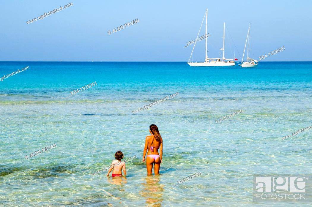 Stock Photo: Beach, San Vito Lo Capo, Sicily, Italy.