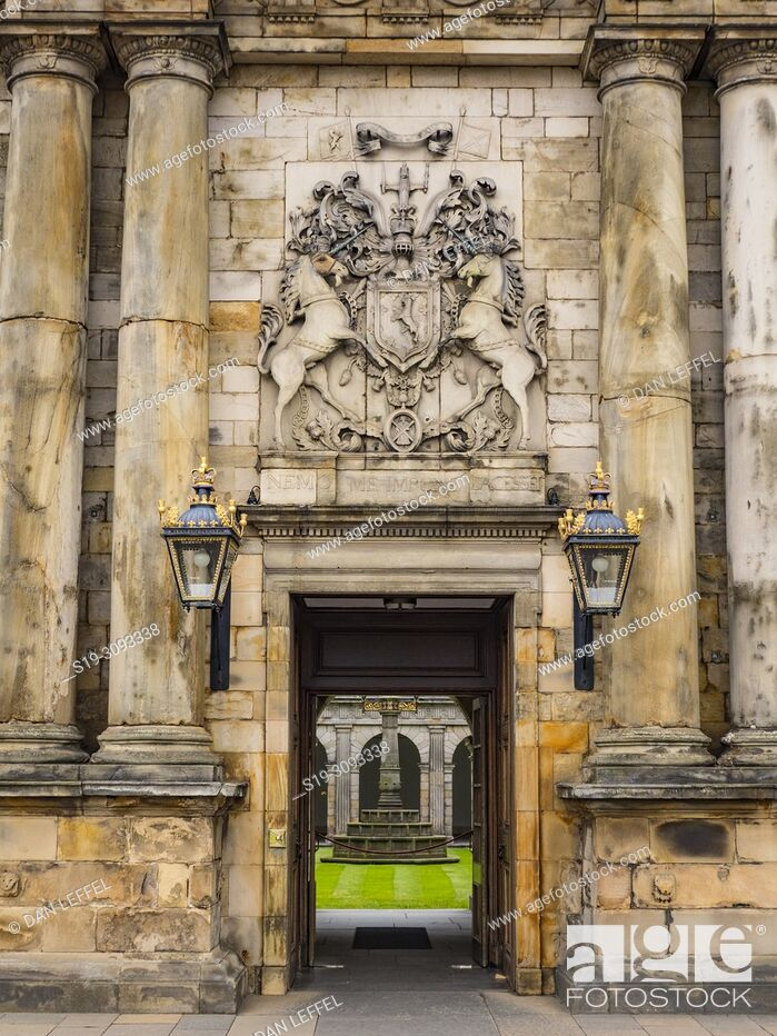 Stock Photo: Edinburgh Scotland Hollyrood House.