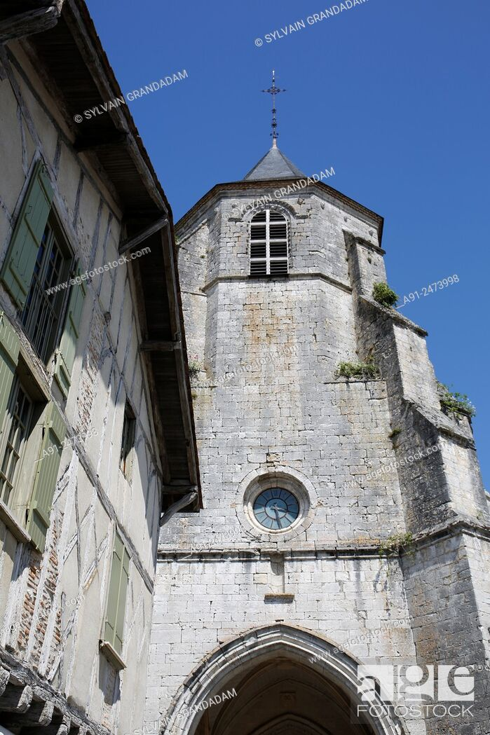 Stock Photo: France, Perigord, Dordogne departement, village of Issigeac listed as remarkable.