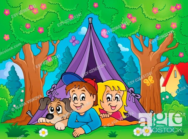 Stock Photo: Camping theme image 3 - picture illustration.