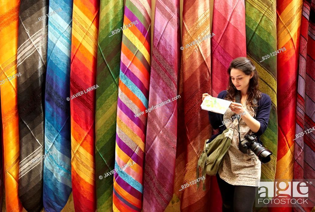 Stock Photo: Souk, Fez El-Bali, Fes, Morocco.