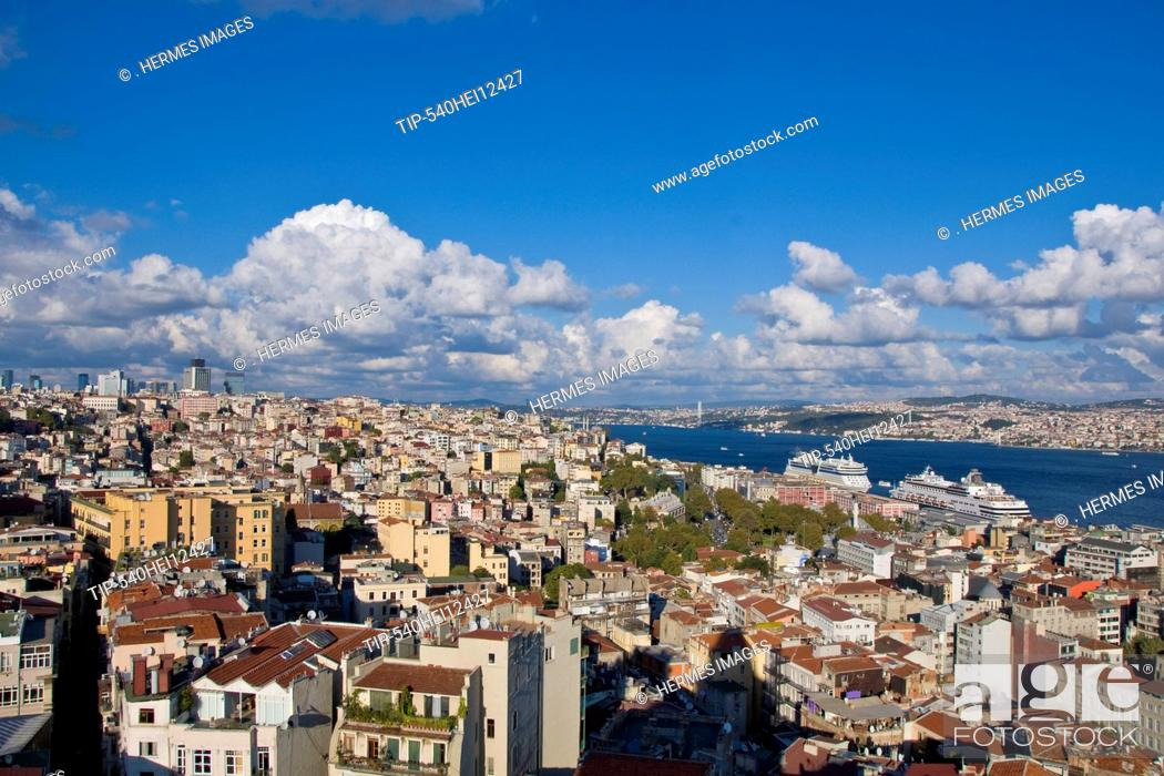 Stock Photo: Turkey, Istanbul, View from Galata Tower.