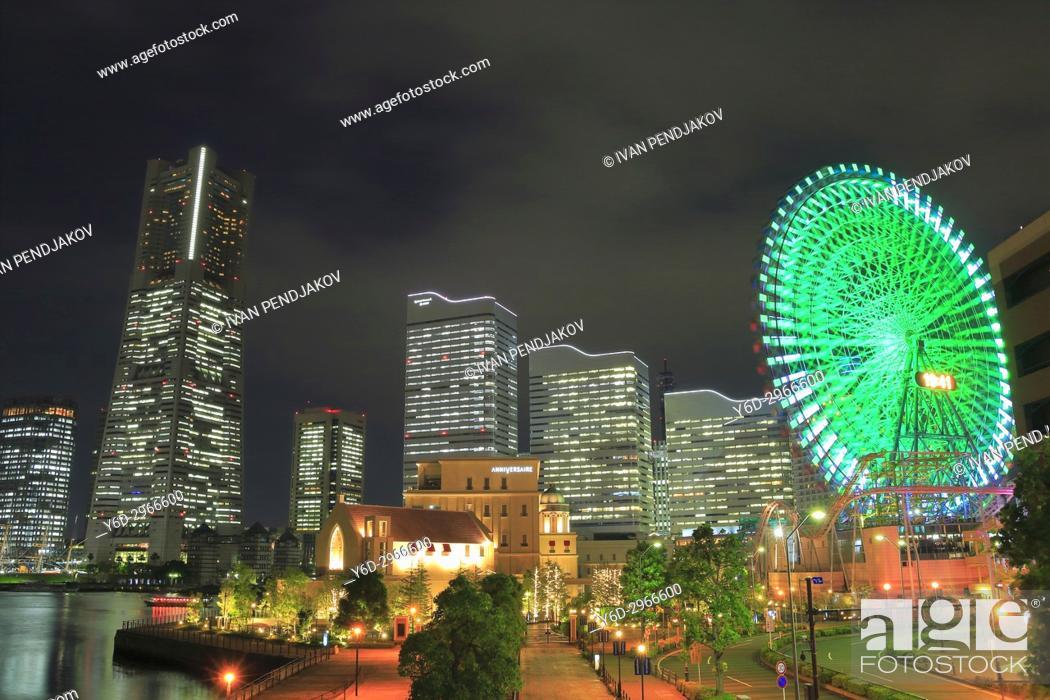 Stock Photo: Yokohama at Night, Japan.