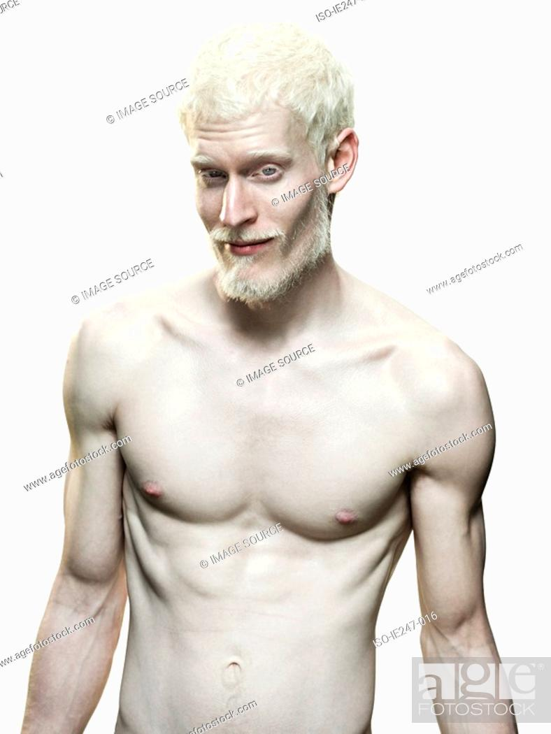 Stock Photo: Pale man.