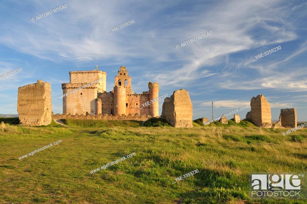 Stock Photo: Castle of Turégano, Segovia.