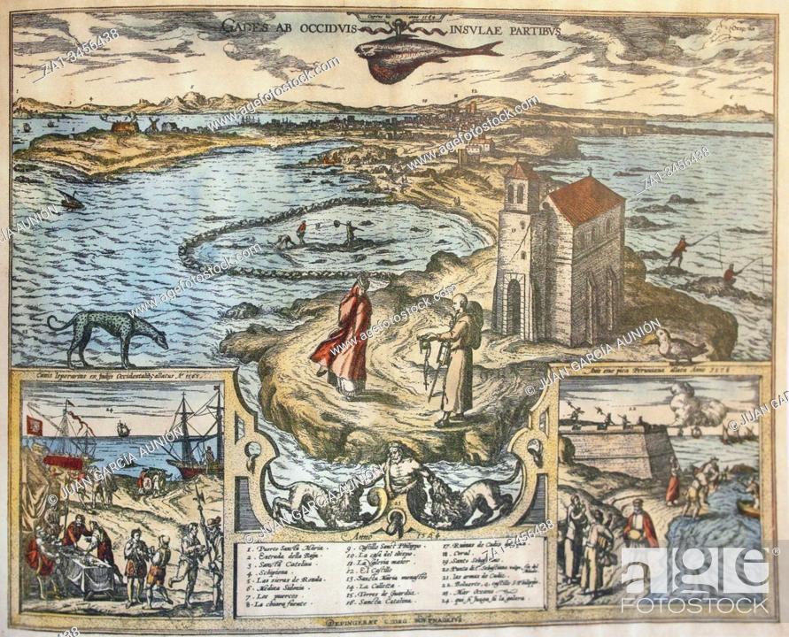 Imagen: Cadiz overview in 1564. Painted by Joris Hoefnagel.