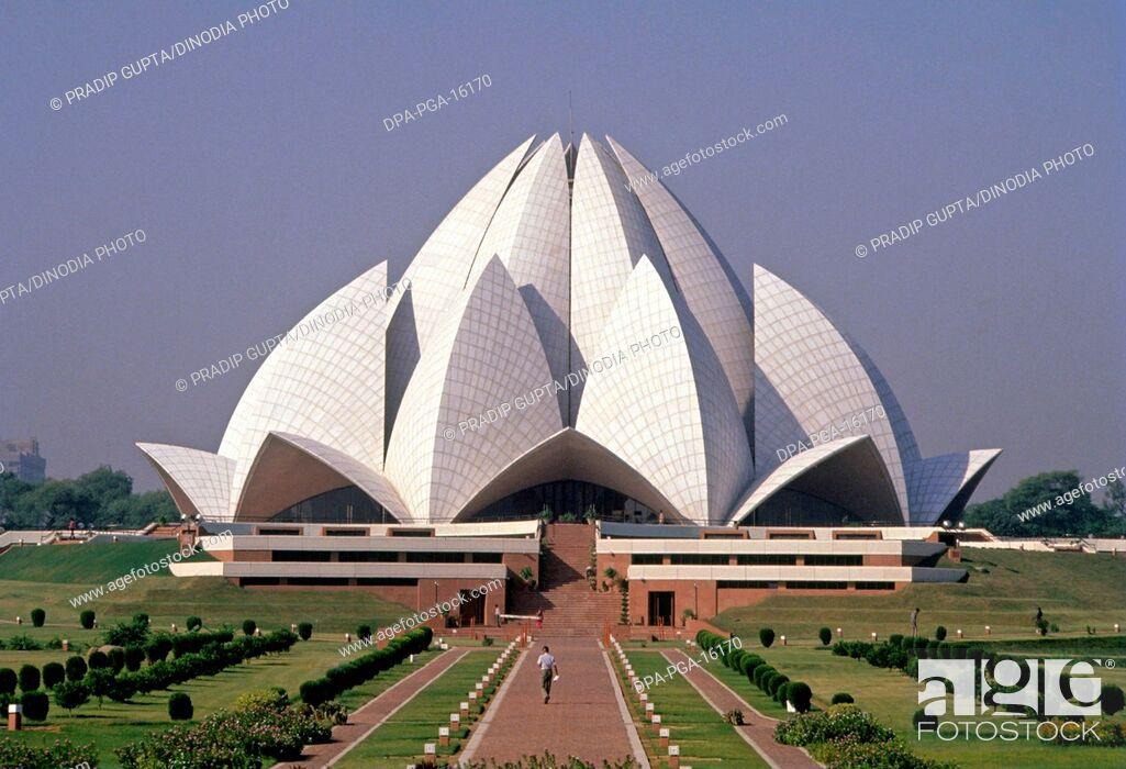 Stock Photo: Lotus Temple, New Delhi, India.