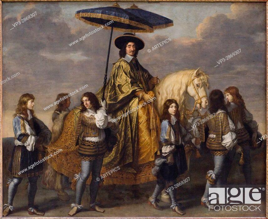 Stock Photo: Charles le Brun. Piere Séguier, chancelier de France. 1655-1661. french school. Louvre Museum - Paris.