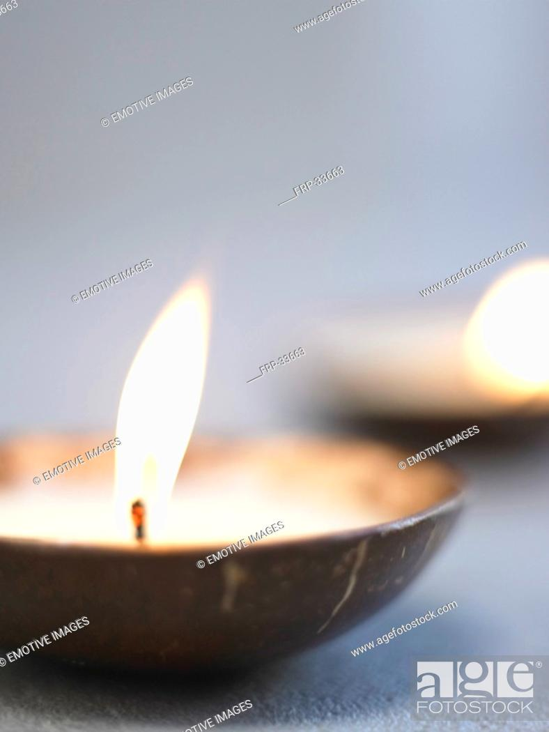 Stock Photo: close-up of a candle.