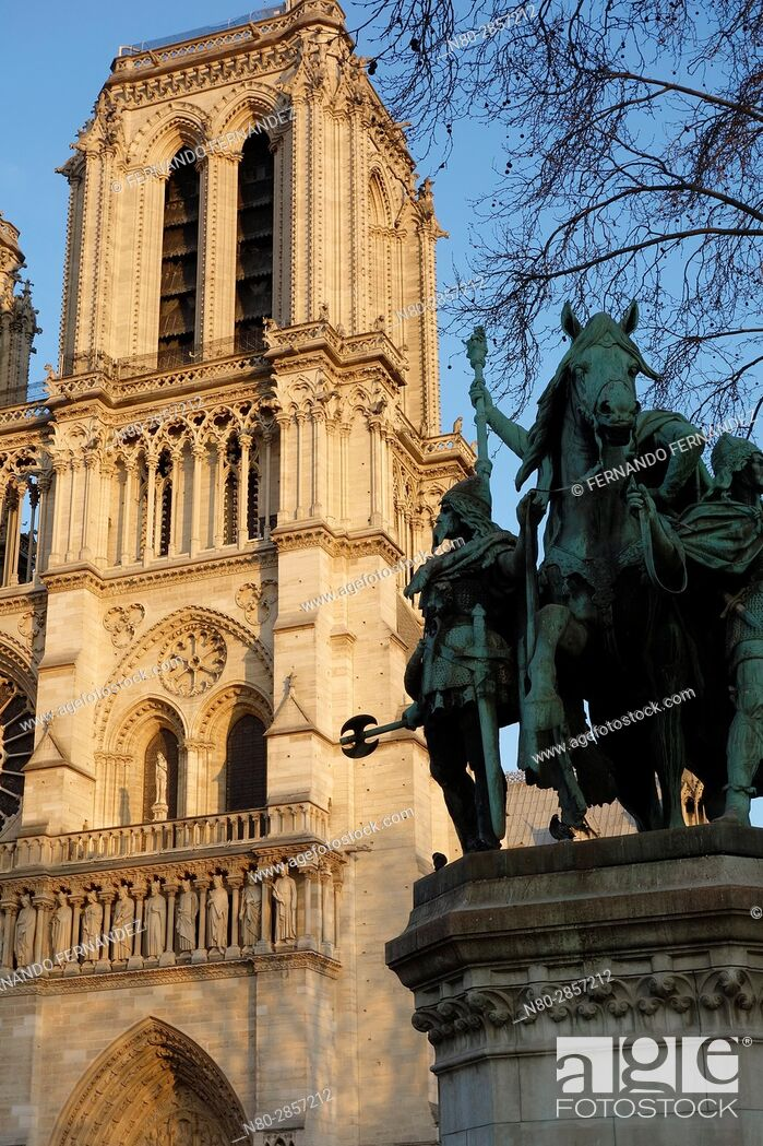 Stock Photo: Notre Dame Cathedral. Paris. France. Europe.