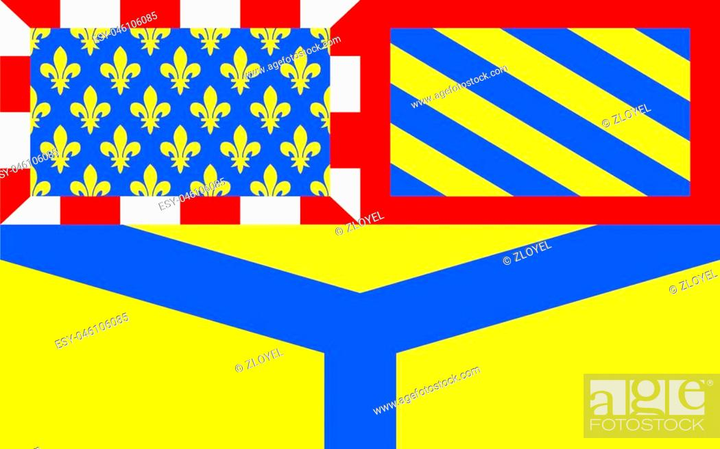 Stock Photo: Flag of Yonne - department in eastern France, a department of the Burgundy region. The administrative center - Auxerre.