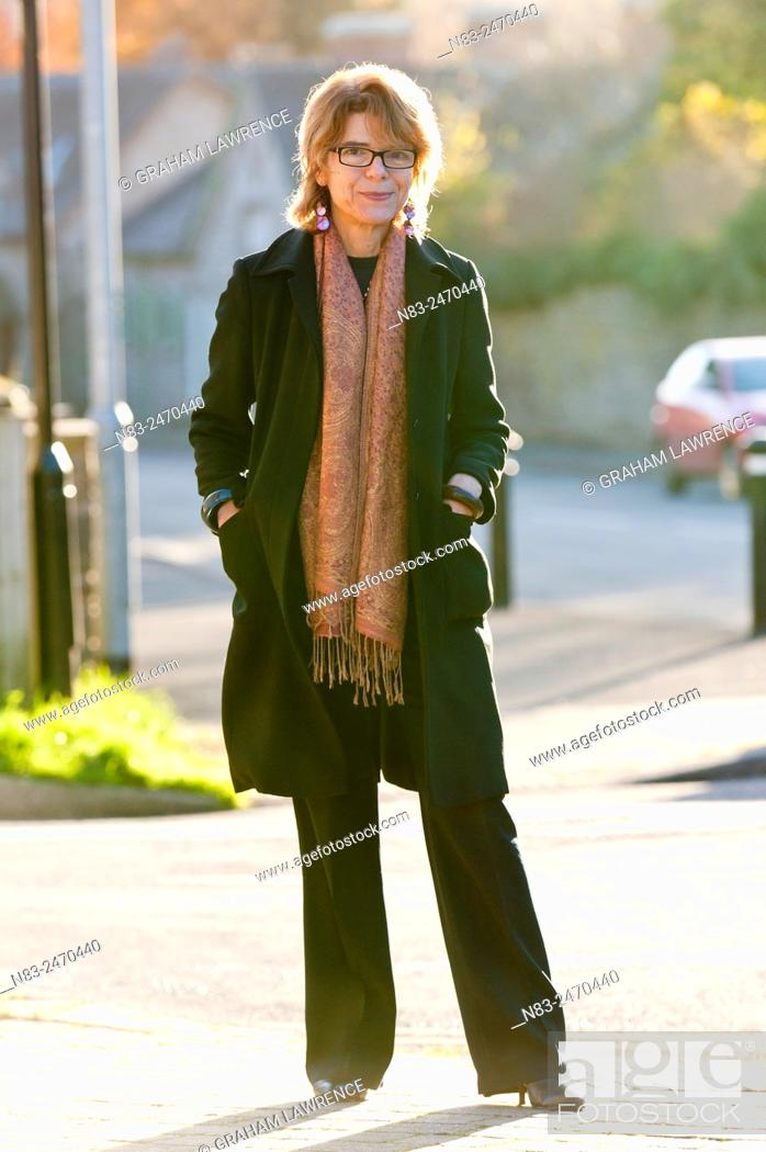 Stock Photo: Hay-on-Wye, Wales, UK. 30th November 2013. Vicky Price, ex-wife of politician Chris Huhne and author of Prisontronics, arrives at the Swan Hotel looking.
