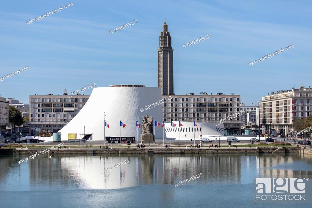 Imagen: Le Volcan (Maison de la Culture du Havre), building by Oscar Niemeyer. Le Havre, Normandy, France.