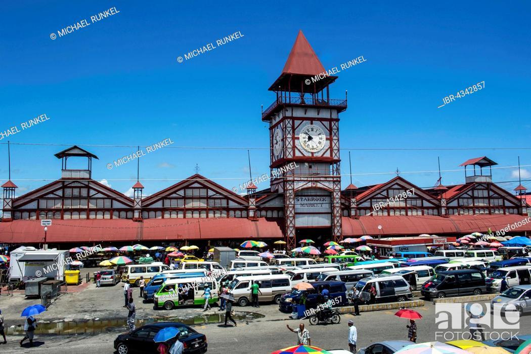 Stabroek market, Georgetown, Guyana, Stock Photo, Picture