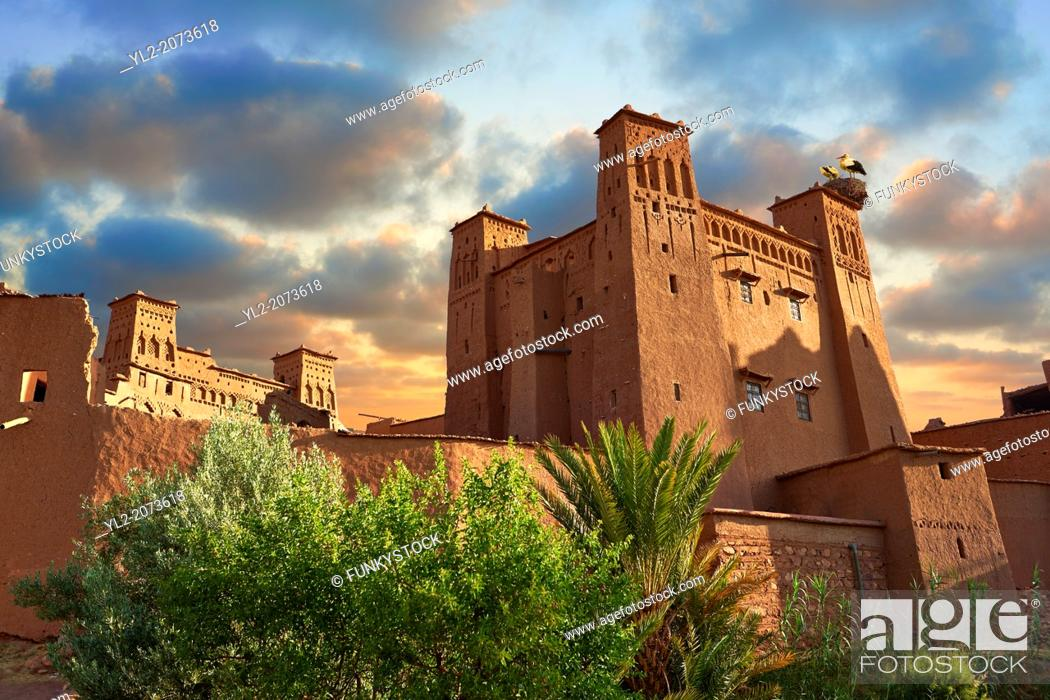 Stock Photo: Adobe buildings of the Berber Ksar or fortified village of Ait Benhaddou, Sous-Massa-Dra Morocco.