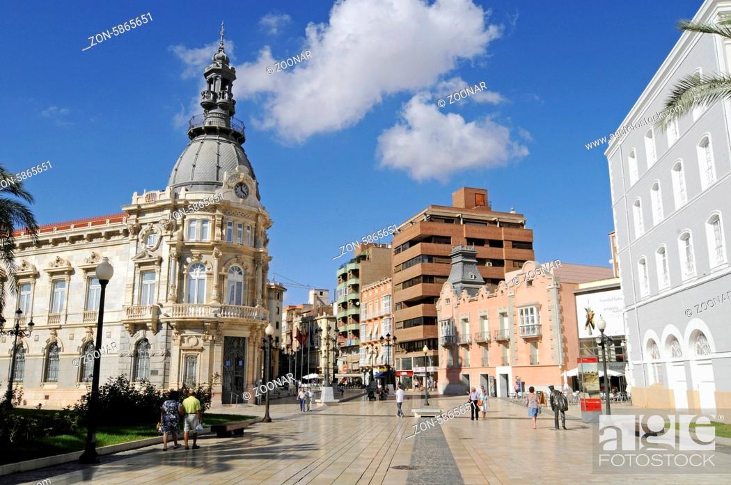Stock Photo: Town Hall, Cartagena, Murcia Region, Spain, Europe, Rathaus, Cartagena, Region Murcia, Spanien, Europa.