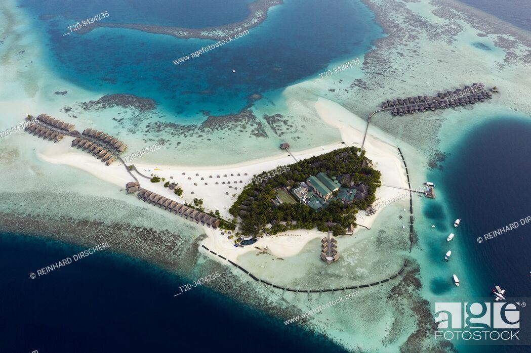 Imagen: Vacation Island Moofushi, Ari Atoll, Indian Ocean, Maldives.