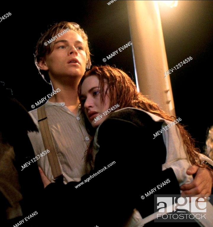 Leonardo Dicaprio Kate Winslet Characters Jack Dawson Stock Photo Picture And Rights Managed Image Pic Mev 12574536 Agefotostock