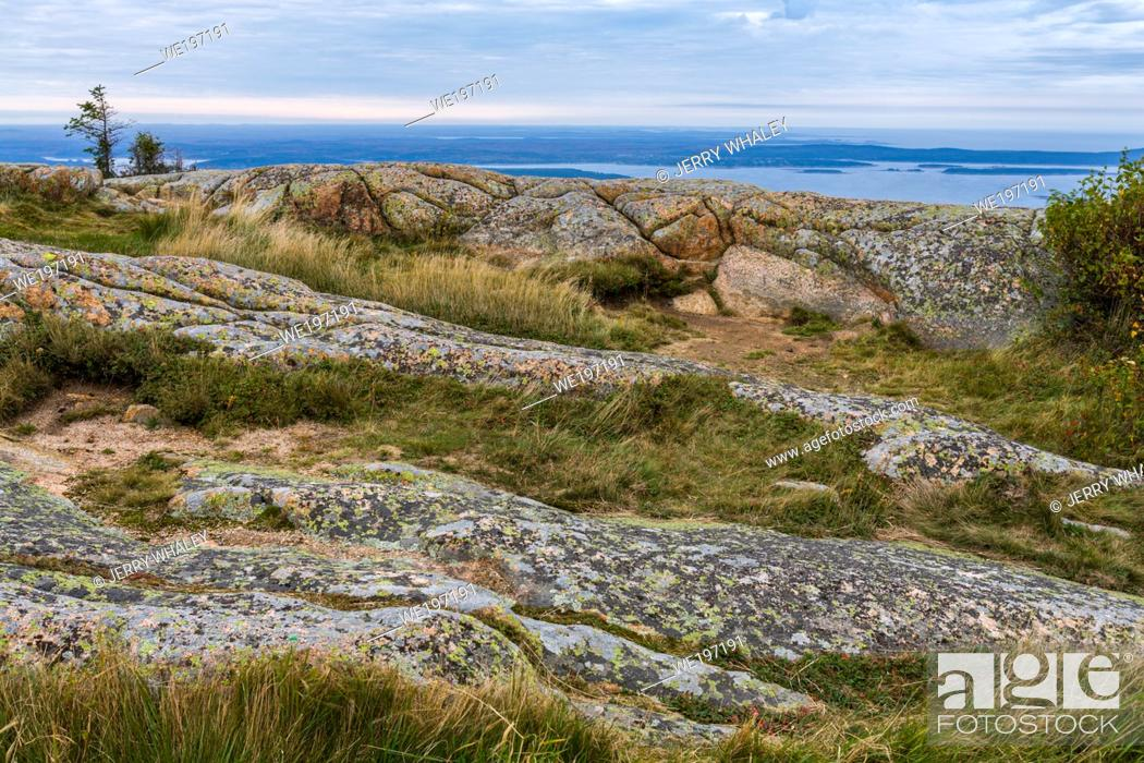 Stock Photo: View from Cadillac Mountain in Acadia National Park, Maine.
