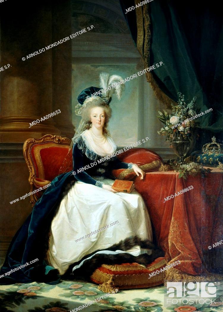 Imagen: Marie Antoinette with a book (Marie Antoinette avec un livre), by Elisabeth Vigée-Le Brun, 1788, 18th Century.