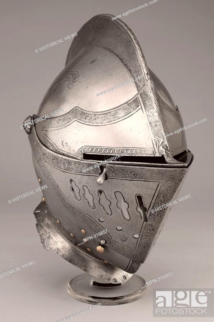 Stock Photo: Close Helmet for the Tourney - 1550/60 - South German; Nuremberg. Steel. 1540 - 1570.