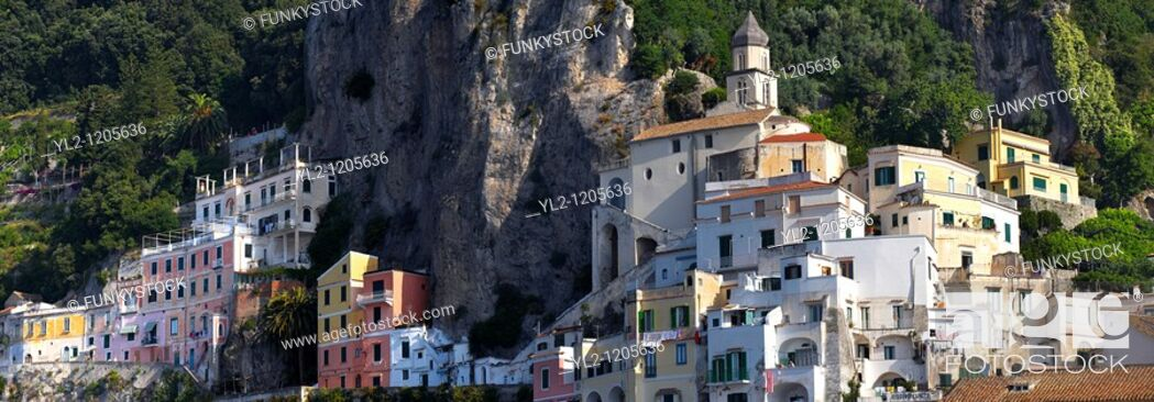 Stock Photo: Houses of Amalfi, Italy.