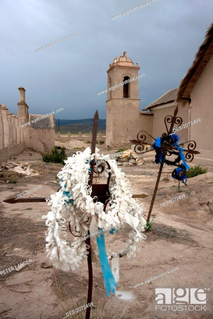 Stock Photo: Cemetery By The Church Of Sepulturas, Oruro Department, Bolivia.