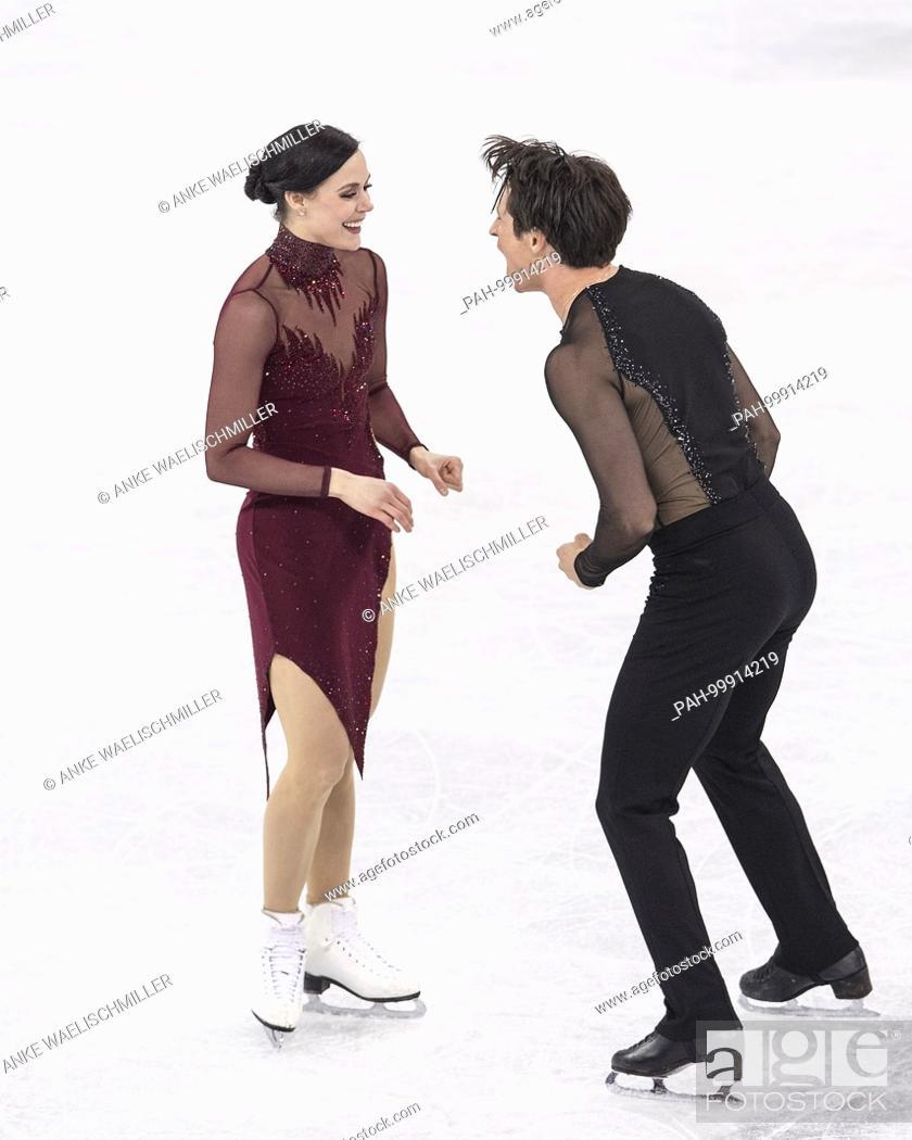 Stock Photo: Tessa VIRTUE / Scott MOIR, CAN, Aktion, .1. Platz, Olympiasieger, Sieger, Gewinner, winner, .Eiskunstlaufen, Eistanzen, Eistanz, Kuer der Paare, Figure Skating.