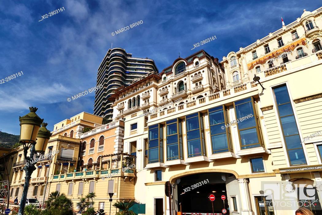 Stock Photo: Montecarlo, Monaco Principality. Modern buildings, the Cardio Thoracic Center.
