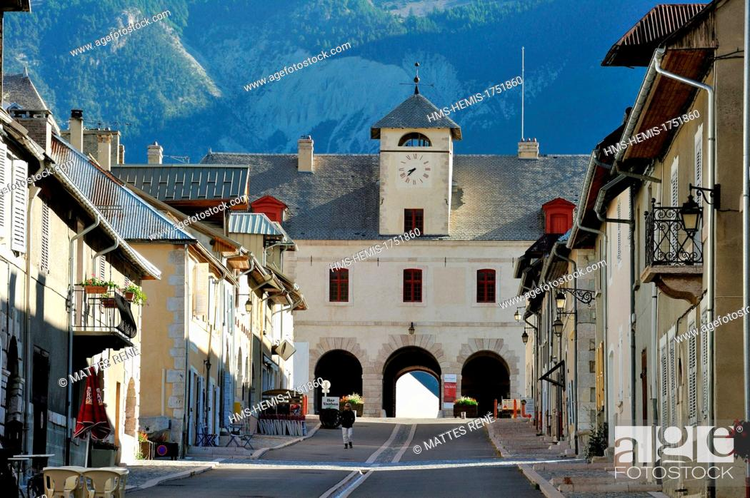 Stock Photo: France, Hautes Alpes, Mont Dauphin, fortified village built by Vauban listed as World Heritage by UNESCO.