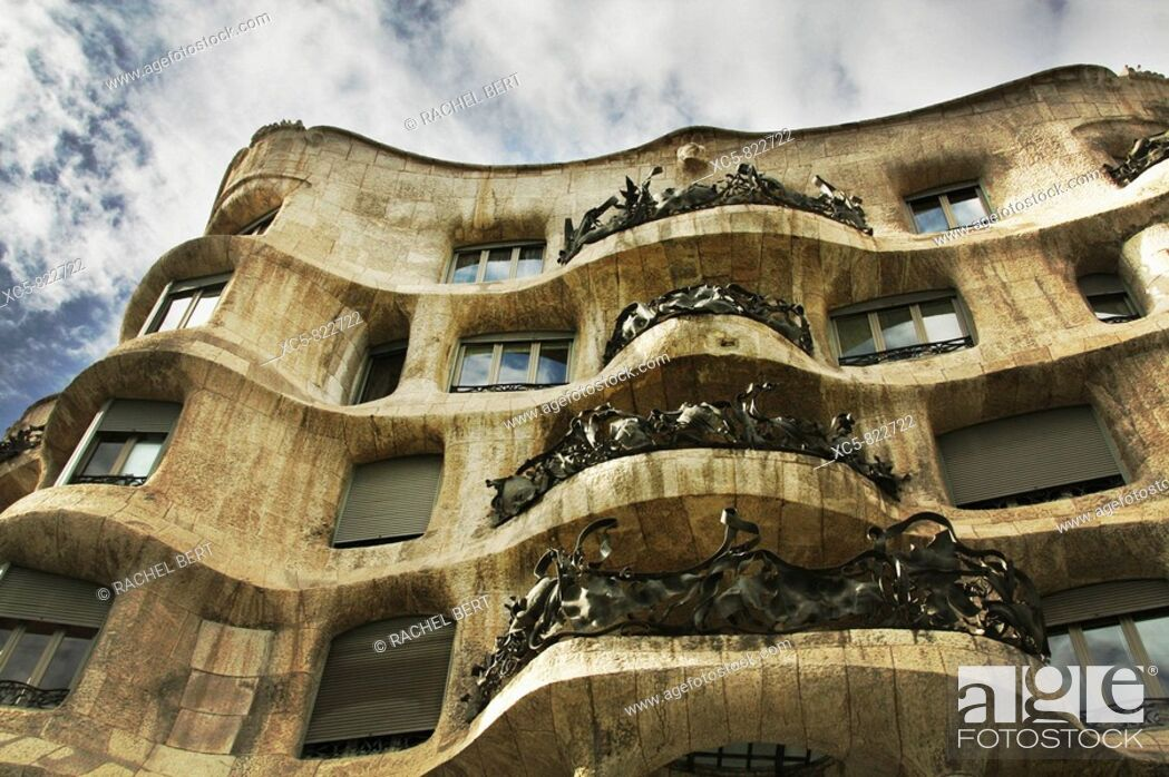 Imagen: Mila House La Pedrera in Passeig de Gracia, Barcelona Catalonia, Spain.